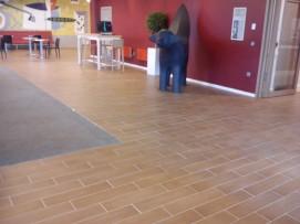Laminate Effect Floor Tiling