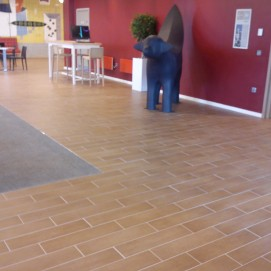 Laminate Effect Floor Tiling